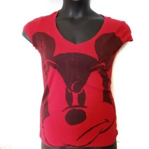 Disney Mickey Mouse Short Sleeve Top Small